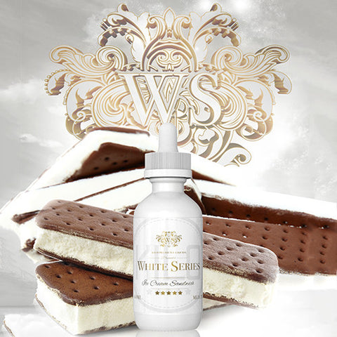 White Series Ice Cream Sandwich 60mL