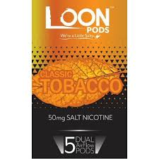 Loon Pods Classic Tobacco (Juul Compatible) - 5PK