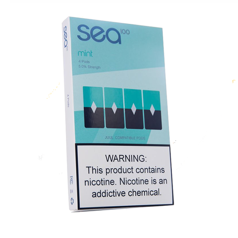 Sea100 Mint (Juul Compatible) - 4 Pack