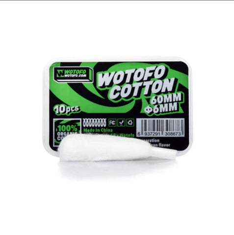 Wotofo 6mm Aglet'd Cotton -10PK