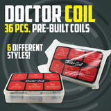 Doctor Coil 6 in 1 Prebuilt Coil Set - 36pcs - 6 Different Styles