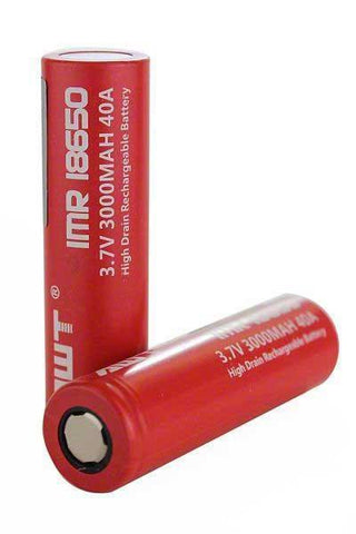 IMR 18650 (3000MAH) 40A 3.7V BATTERY FLAT-TOP