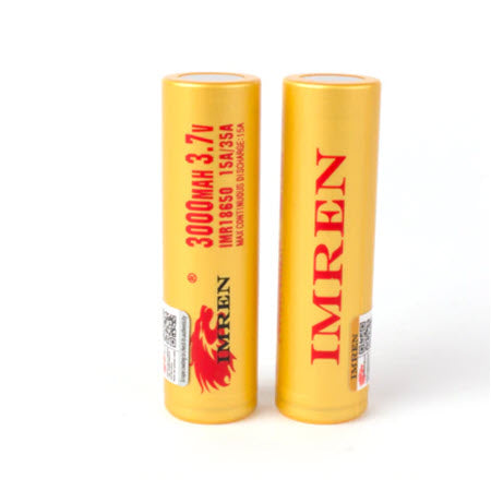 Imren IMR 18650 3000mAh 35A Battery - 2 Pack