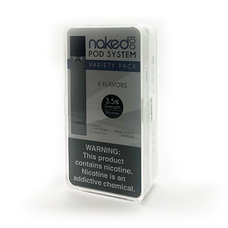Naked 100 Pod Starter Kit - with 4 Pods