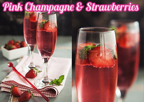 Pink Champagne & Strawberries