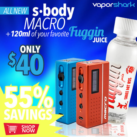 SBODY Macro DNA 40w + 120mL Fuggin eLiquid