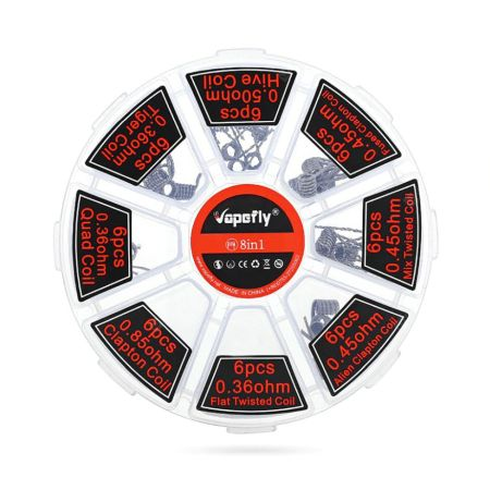 Vapefly 8 in 1 Coil Set - 48pcs