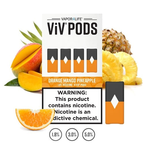 ViV Orange Mango Pineapple (Juul Compatible) - 4 Pack