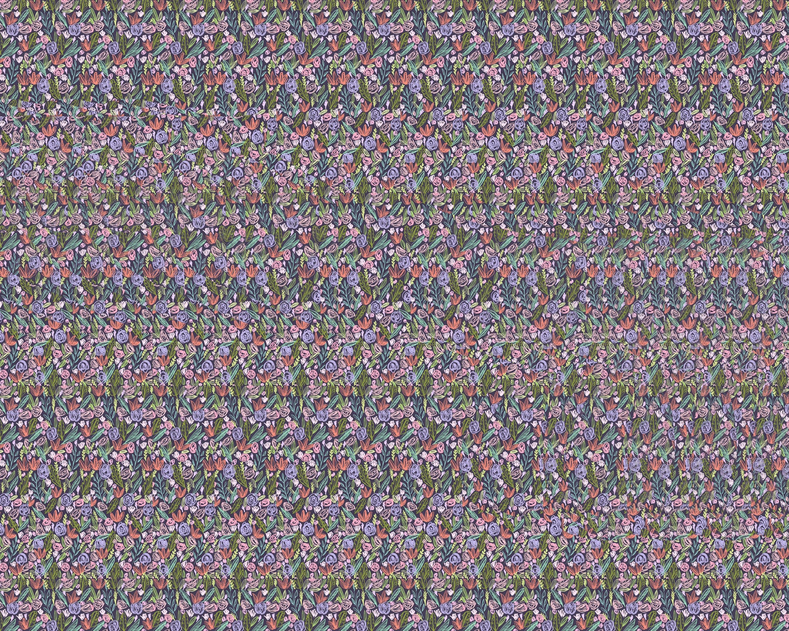 magic eye stereogram floral pattern floating dick illustration drawing 3d hidden image