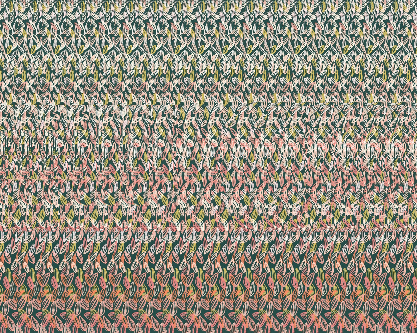 Funny magic eye stereogram leaf illustration drawing fuck hidden 3d word