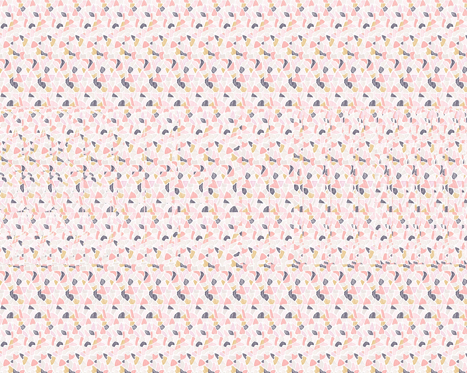 pink shit magic eye stereogram terrazzo illustration drawing pattern design modern decor art drawing