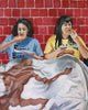 Broads Eat Pizza - Broad City Abbi and Ilana Painting - Portrait Print