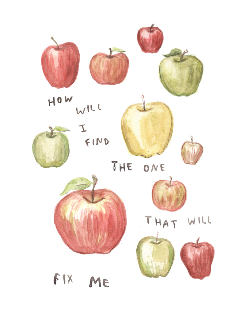 Apple Fix - Original Watercolour Painting