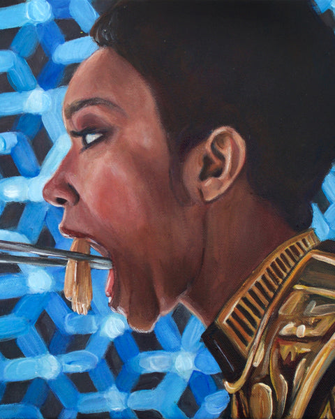Michael Burnham Eats Kelpien - Star Trek Discovery Painting - Portrait Print