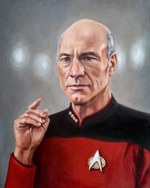 Captain Picard - Star Trek TNG Portrait Print