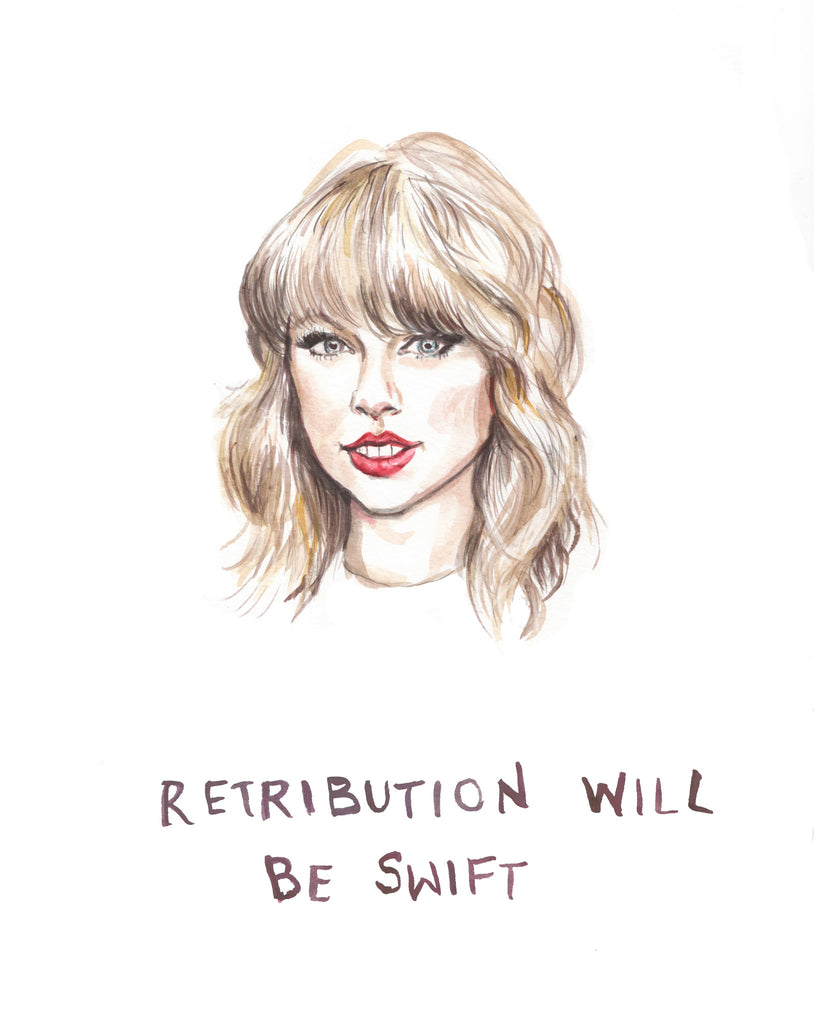 Retribution Will Be Swift - T-Swift Greeting Card