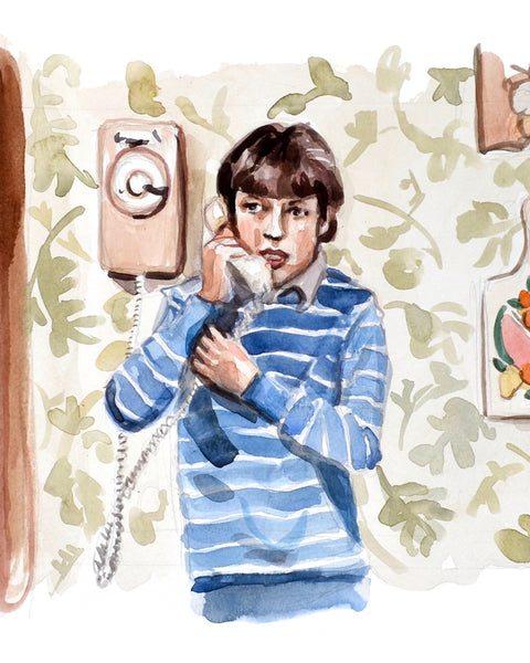 Calling... Sam Weir - Limited Edition Portrait Print