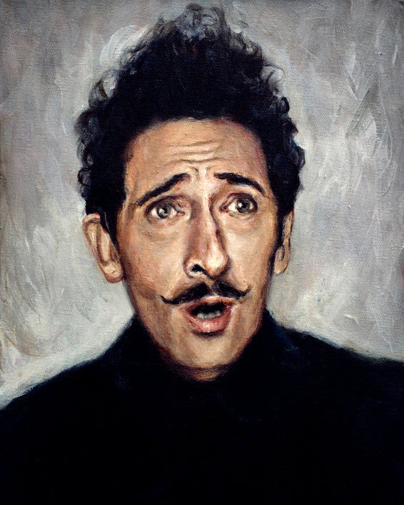 Adrien Brody as Dmitri - Grand Budapest Hotel - Wes Anderson Portrait Print