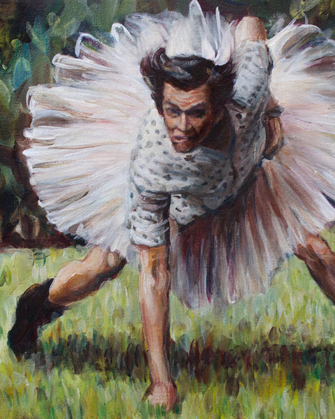 Ace Ventura - Jim Carrey Painting - Portrait Print