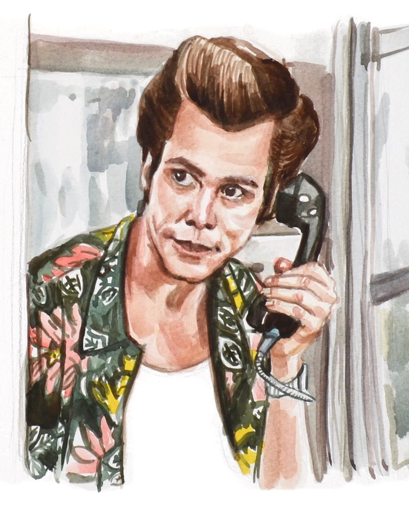 Calling... Ace Ventura - Limited Edition Portrait Print