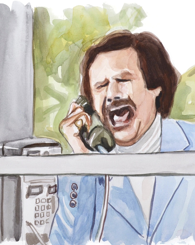 Calling... Anchorman - Limited Edition Portrait Print