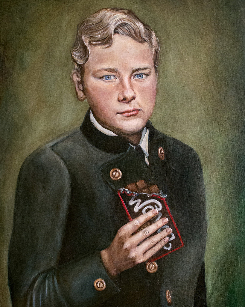 Augustus Gloop - Willy Wonka Painting - Portrait Print