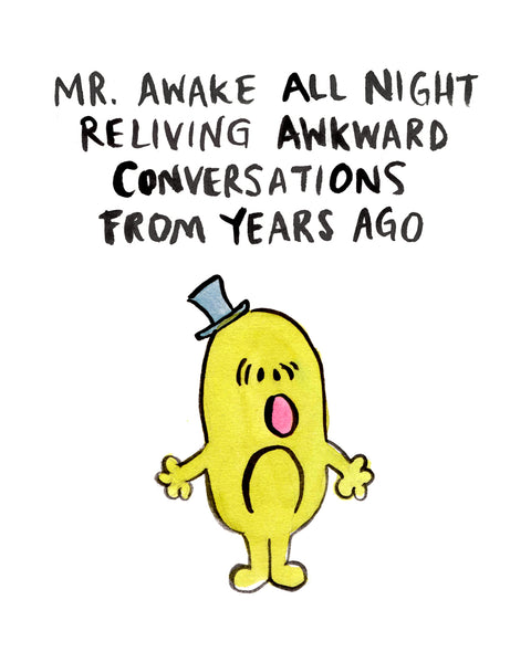 Mr. Awake All Night - Greeting Card