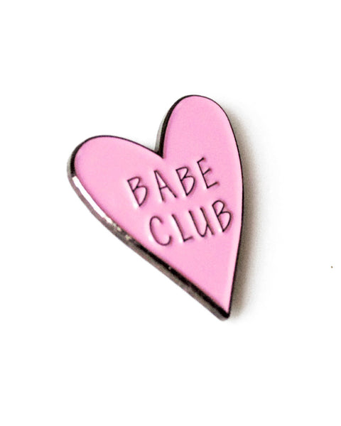 Babe Club - Heart Enamel Lapel Pin