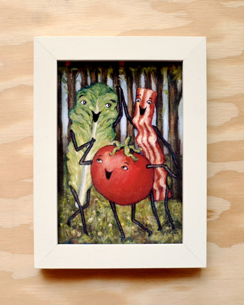 Three BLT Graces - Bacon, Lettuce, and Tomato Botticelli - Illustration Print