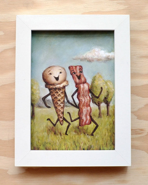 Bacon Loves Ice Cream - Illustration Print
