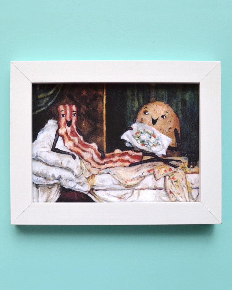 Bacon Olympia - Manet with Bacon - Illustration Print