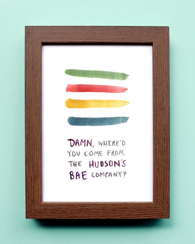 Hudsons BAE Company - Watercolor Illustration Print