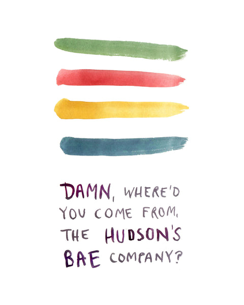 Hudson's BAE Company - Greeting Card
