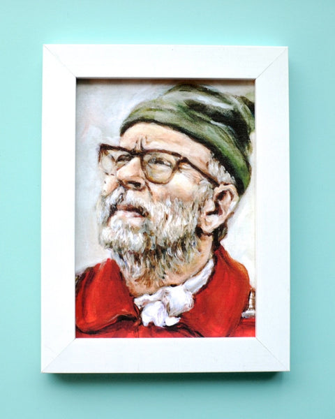 Bob Balaban as the Narrator - Moonrise Kingdom - Wes Anderson Portrait Print