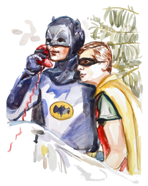 Calling... Batman and Robin - Limited Edition Portrait Print
