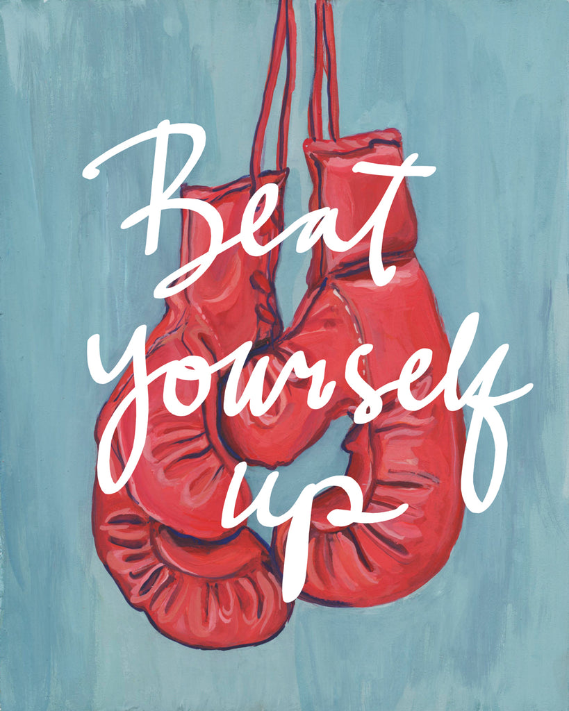 Beat Yourself Up - Print of Gouache Illustration