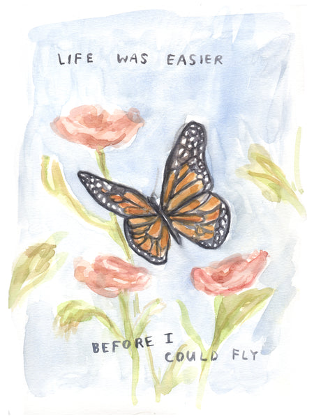 Before I could Fly - Original Watercolour Painting