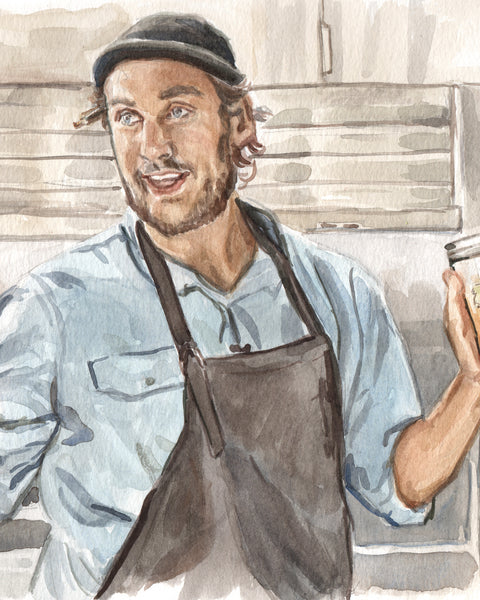 Brad Leone - Bon Appetit Test Kitchen It's Alive - Watercolor Illustration Print