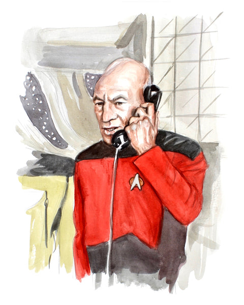 Calling... Captain Picard - Limited Edition Portrait Print