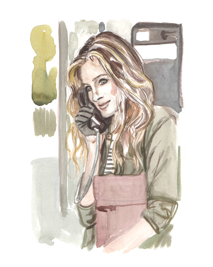 Calling... Carrie Bradshaw - Limited Edition Portrait Print