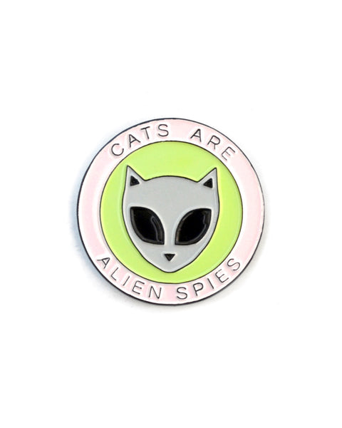 Cats Are Alien Spies - Enamel Lapel Pin