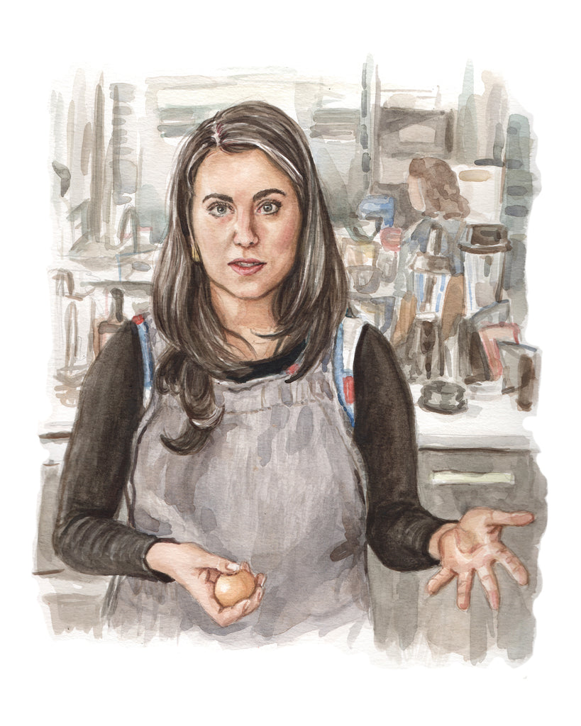 Claire Saffitz painting Art Bon appetit test kitchen