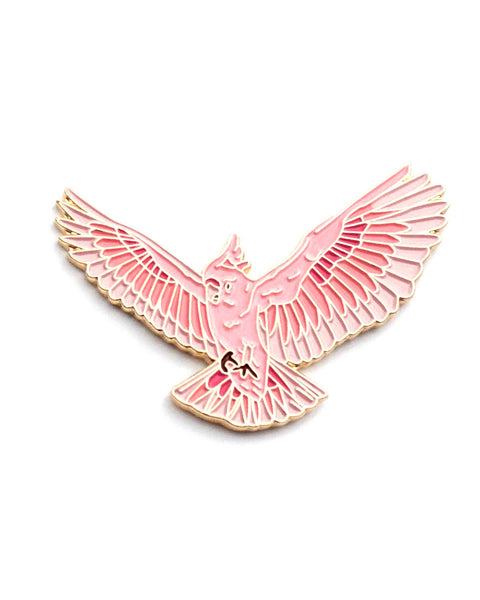 Pink Cockatoo - Enamel Lapel Pin