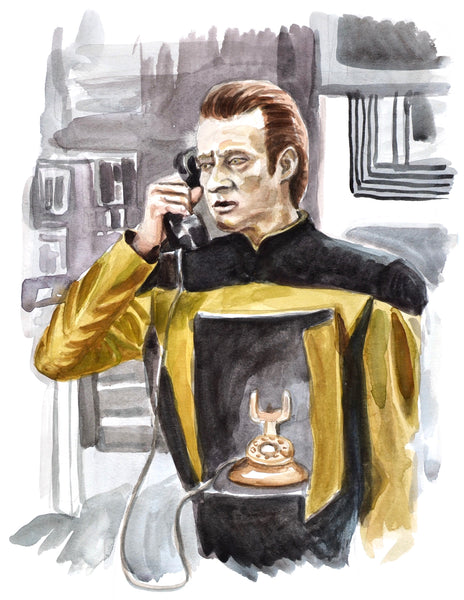 Calling... Data - Limited Edition Portrait Print