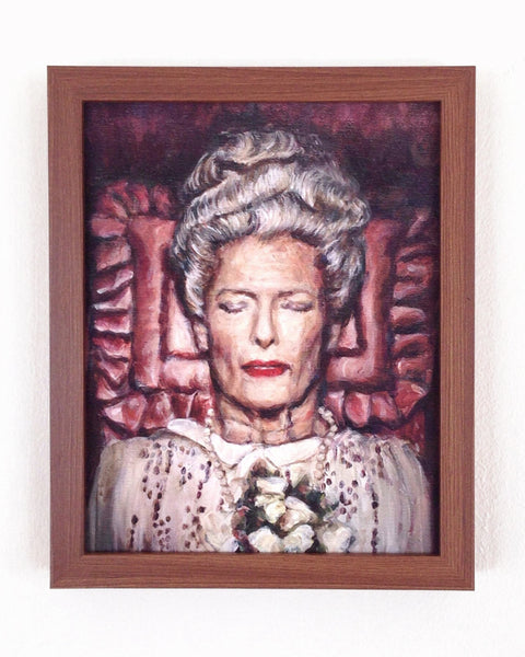 Tilda Swinton as Madame D - Grand Budapest Hotel - Wes Anderson Portrait Print