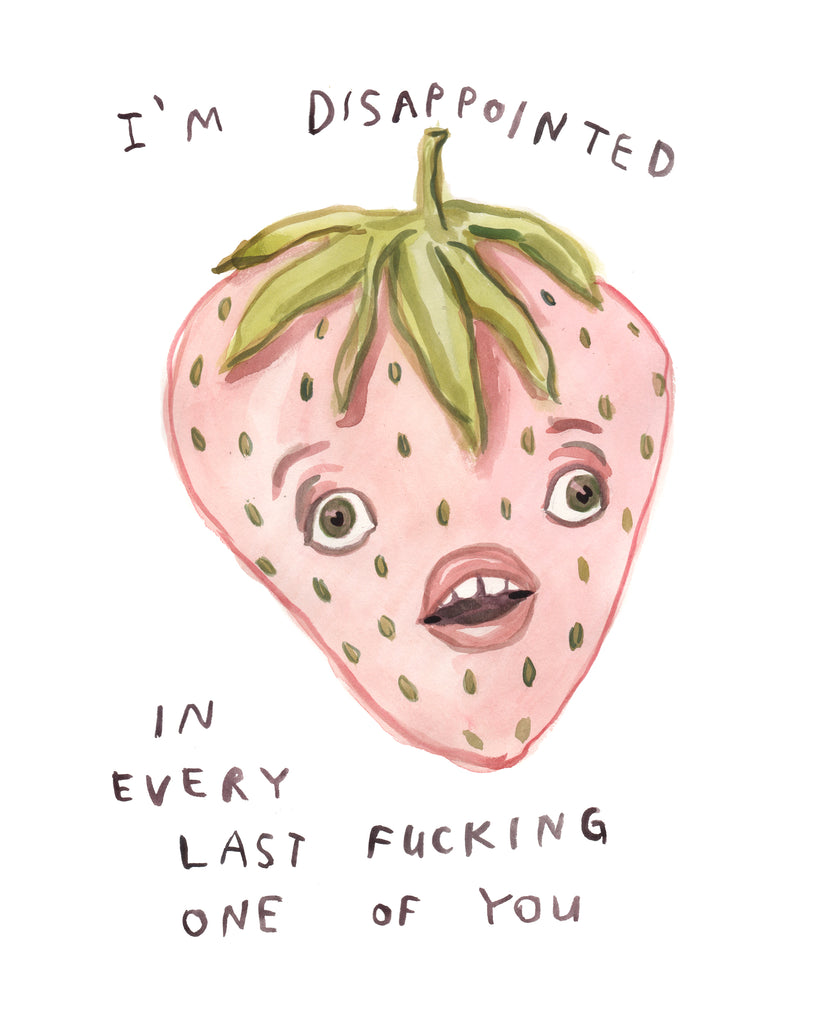 Disappointed Strawberry - Limited Edition Art Print