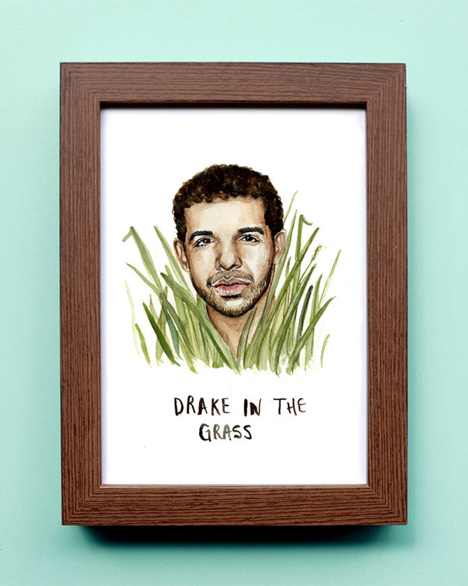 Drake in the Grass - Watercolor Illustration Print