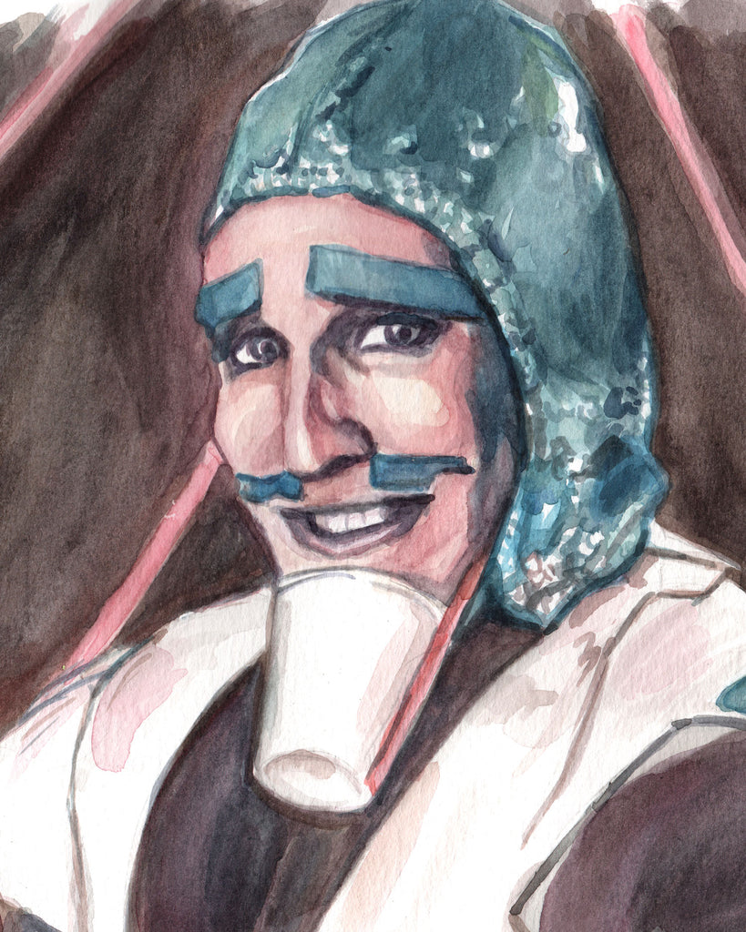 Fantasy Man from Luxury Comedy - Noel Fielding Original Watercolor Painting