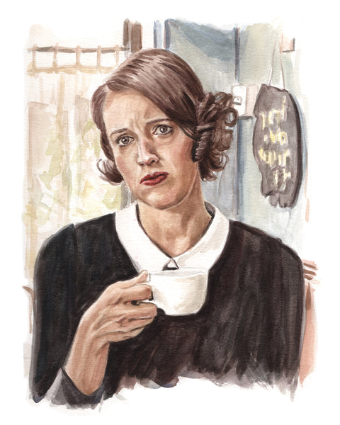 Fleabag - Phoebe Waller-Bridge Original Watercolor Painting