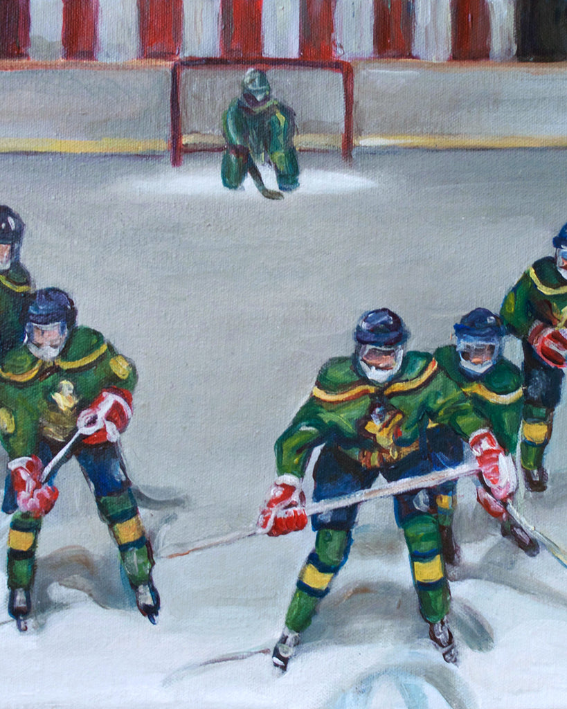 Flying V - The Mighty Ducks Painting Print